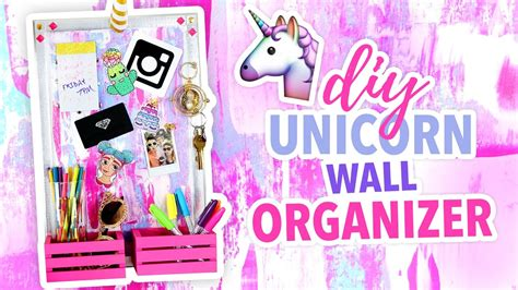 diy unicorn wall organizer cute room decor karenkavett youtube