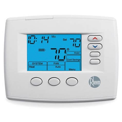 rheem 200 series programmable non programmable thermostat heat 3 heat 2 cool