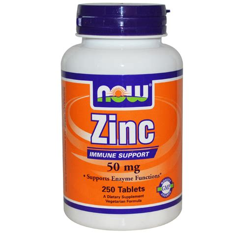 now foods zinc 50 mg 250 tablets iherb com