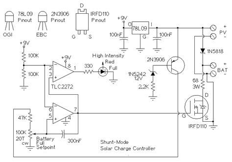 Solar Charger Controller Circuit Diagram Expert Circuits