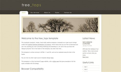 Tree Tops Template by High Quality Html And Css Templates