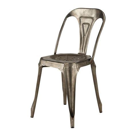 chaise en metal chaise en métal style vintage industriel demeure et jardin