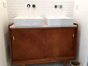 Meuble Vasque Retro : emejing meuble vasque retro ideas awesome interior home satellite ~ Teatrodelosmanantiales.com Idées de Décoration