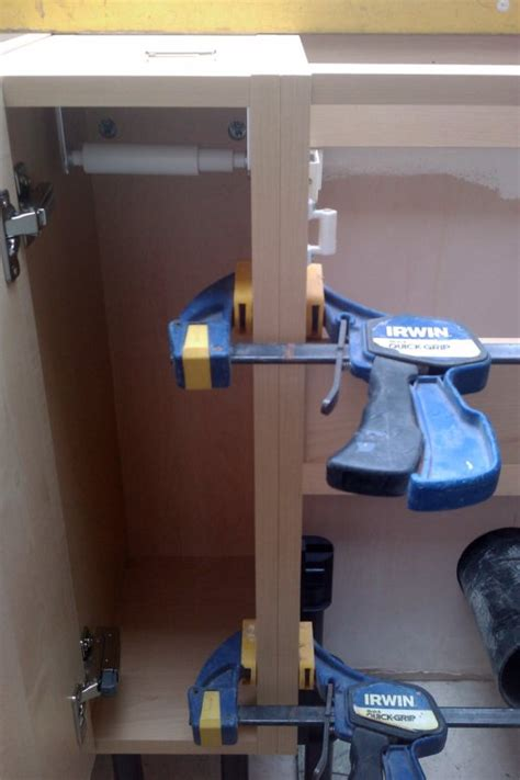Kitchen Cabinet Wall Fixings by How To Install Kitchen Cabinets To The Wall And Floor With