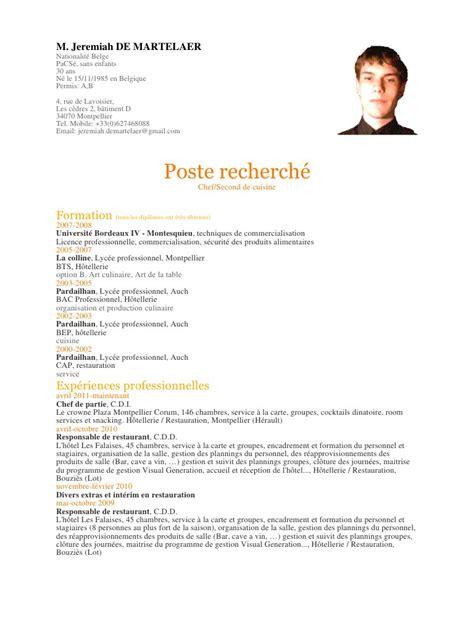 cap cuisine montpellier c v 04 2016 c v 04 2016 pdf fichier pdf