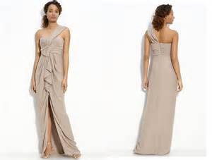 beige bridesmaid dresses one shoulder beige wedding dress budget friendly onewed