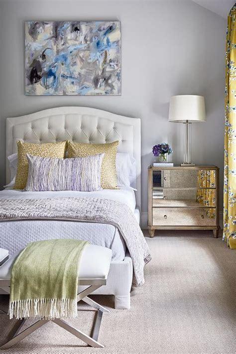 yellow  gray bedroom  blue  gray abstract art