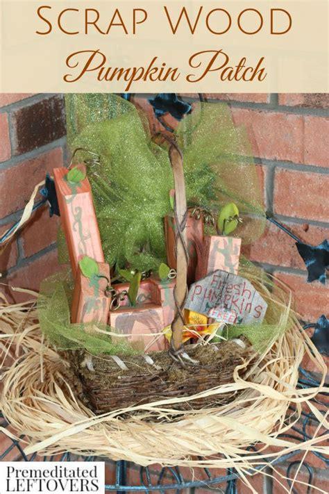 diy scrap wood pumpkin patch basket