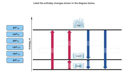 Solved Label The Enthalpy Changes Shown In The Diagram Below Cheggcom