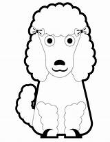 Poodle Coloring Puppy Pages Cartoon Poodles Printable Pretty Template Clipart Cliparts Miniature Clip Popular Library Coloringhome sketch template
