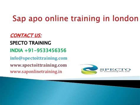 Sap Apo Online Training In London