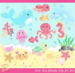 Cute Sea Animals Clip Art