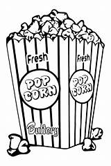 Popcorn Corn Coloring Box Drawing Clipart Bucket Pages Template Boxes Tlc Pop Sheets Saturday Createwithtlc Colored Snack Bowl Printables Create sketch template