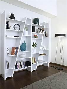bibliothque design delta temahome bibliothque 5 colonnes With meubles pour petits espaces 3 meuble secretaire design blanc fabriqu en europe focus