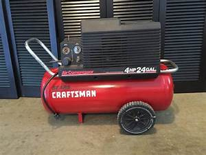 Air Compressor - Craftsman 220 Volt  4 Horse Power  24 Gallon
