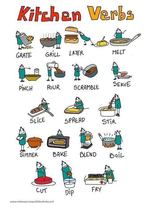 vocabulaire verbes cuisine