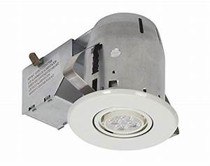 Quot led ic rated swivel spotlight recessed lighting kit