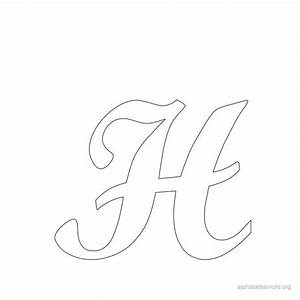 print free alphabet stencils cursive h printables With letter stencils for walls free
