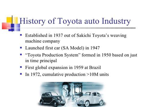 toyota auto company presentation on toyota motors 1