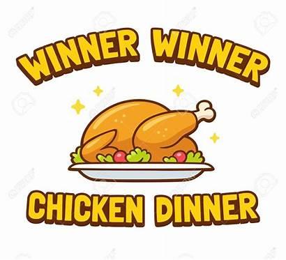 Chicken Dinner Winner Clip Clipart Funny Het