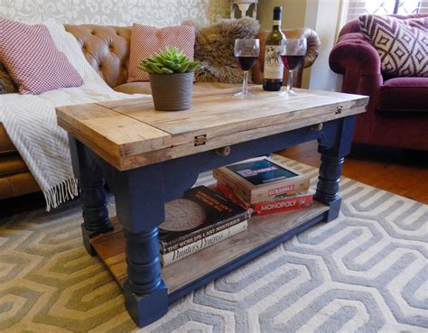 In house with pets or children, desks with curved corners are a good idea, because they protect against accidents if someone bumps or falls in it. Rustic Coffee Table painted