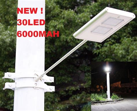 30led 6000mah motion sensor led solar light wall