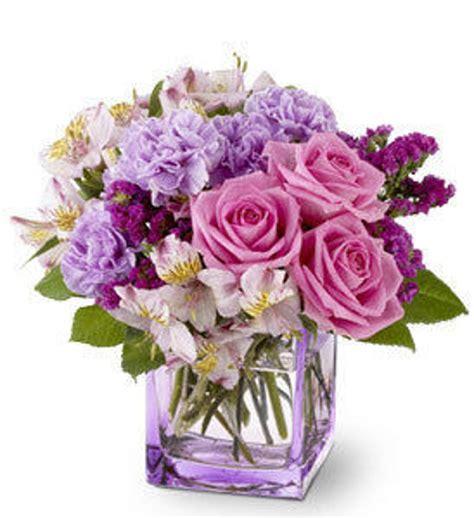 telefloras beautiful day purple floral arrangement