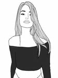 Tumblr Girl Best Friends Drawing Black Outline