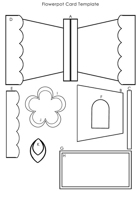 Flower Pot Template This Template To Create The Flowerpot Card