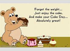 Enjoy Cake Day! Free Cake Day eCards, Greeting Cards 123
