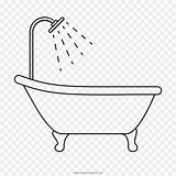 Tub Drawing Coloring Bathtub Bathroom Template Sketch Pages Kisspng Cleanpng sketch template