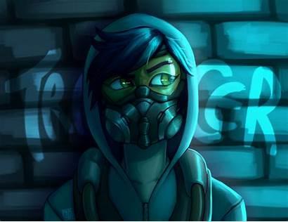 Tracer Graffiti Deviantart Overwatch Fan Prpldragonart Drawings