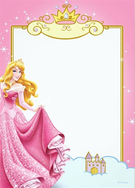 printable princess invitation templates invitations