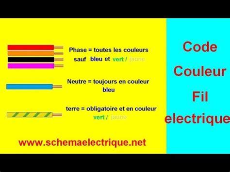code couleur fil installation electrique youtube