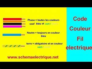 code couleur fil installation electrique youtube With couleur fil de phase