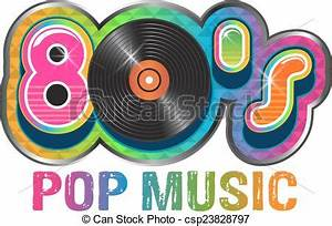 80S Pop Music Vinyl Disc Logo - Royalty Free Vector ...