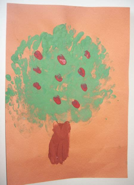 apple tree handprint painting