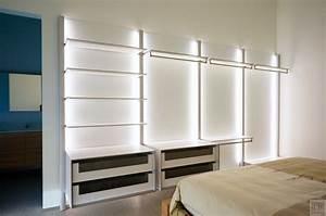 dressing ouvert chambre avec led integre anyway doors With chambre avec dressing ouvert
