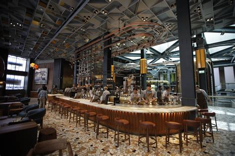 Cavernous Cool Interior by Starbucks Reveals Opulent Store In Milan The Culmination
