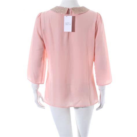 light pink blouse light pink womens blouse collar blouses
