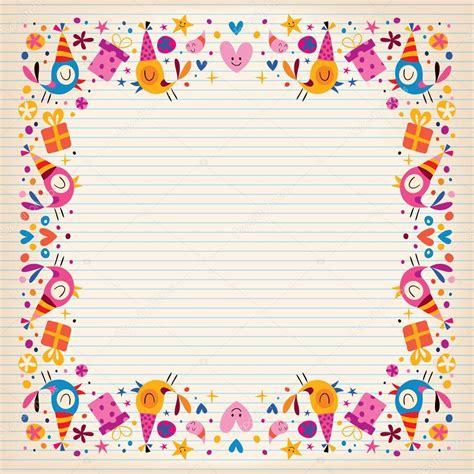 happy birthday border card stock vector 169 aliasching 58813699