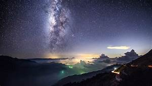 英仙座流星雨星空美图图片电脑高清壁纸