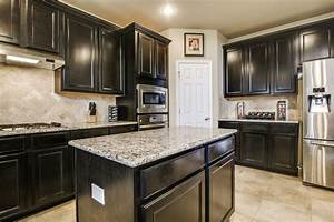 traditional kitchen with flush light complex granite With kitchen colors with white cabinets with inspection sticker texas