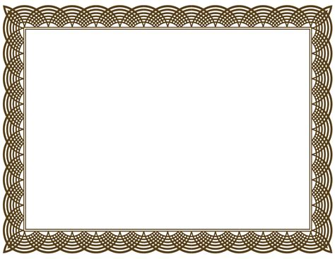 brown award certificate border  sample blank certificates