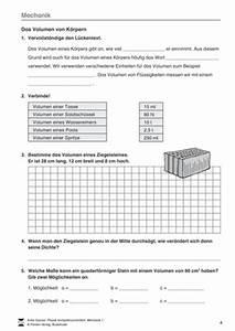 Masse Berechnen Mit Dichte : physik f rderschule unterrichtsmaterial bei ~ Themetempest.com Abrechnung