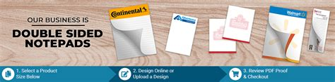 double sided notepads printppscom