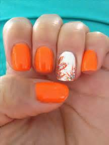 Top best orange nail art ideas on toenails pedicure designs and cute