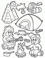 Coloring Pages Camping Smores Smore Library Clipart sketch template