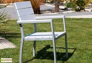 Fauteuil Jardin Bois : fauteuil jardin bois composite blanc et alu fauteuil aluminium composite lame blanche dcb garden ~ Teatrodelosmanantiales.com Idées de Décoration
