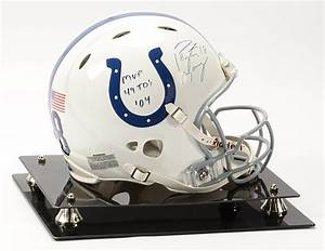 Peyton Manning Signed and Inscribed Colts Revolution Game ...